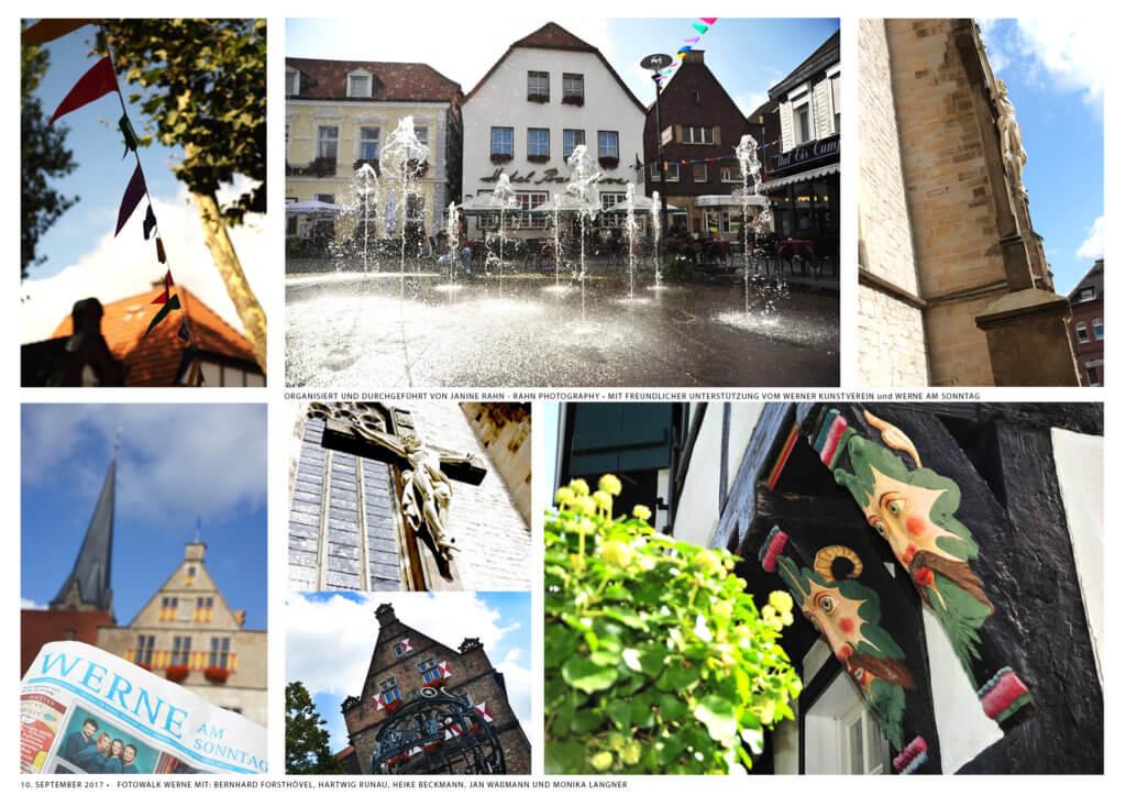 Bildercollage, Werne, Rathaus, Werne am Sonntag, Fotowalk, Teilnehmerergebnisse