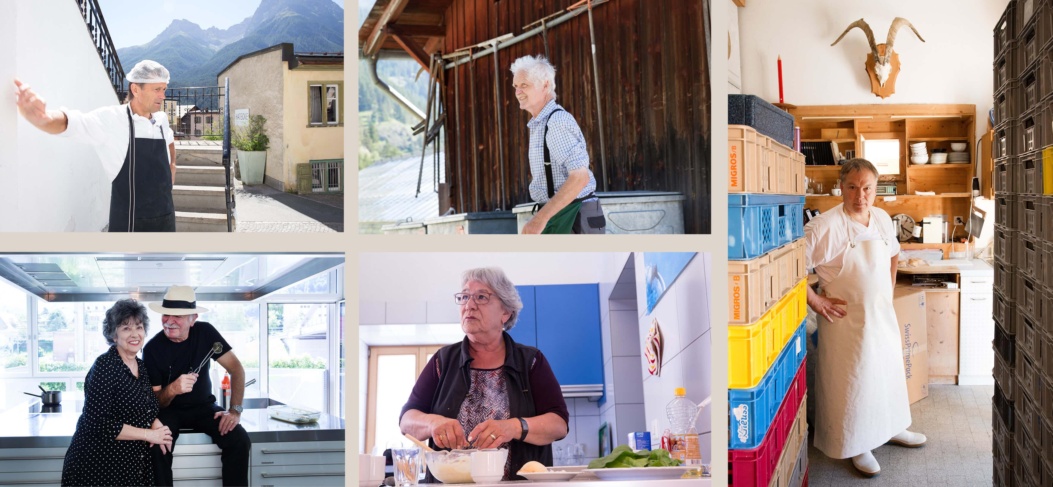 Käserei, Fleischerei, Capuns, Gärtnerei, Kochen, Schweiz