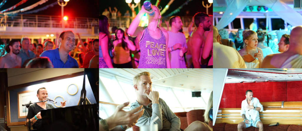 Party, Reisefotografie, Schiff, Deck, Nomad Cruise, Digitale Nomaden, Relocation Trip, Workshops an Board, Talks, Panorama Bar, Klavier, Singen, Stimmung, White Party, Poolparty, Friends